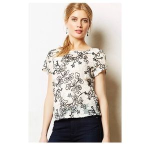 Anthro Meadow Rue Cherry Blossom Blouse